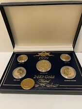 1999 US 24Kt Gold Plated Coin Collection – 5 Coin Set Plus Extra Gold Quarter