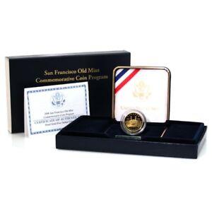 USA San Francisco Old Mint Gold Commemorative $5 2006S Proof Box & COA