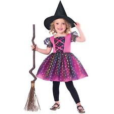 Girls Halloween Rainbow Witch Costume Toddler Fancy Dress Outfit Party 1-2 Years
