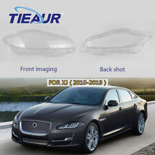Pair Headlight Clear Lens Cover Headlamp Transparent Cover For Jaguar XJ  10-19
