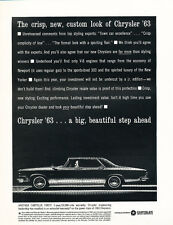 1963 Chrysler New Yorker  with Spec Sheet - Car Advertisement Print Ad J297