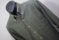 31264 Mens Viyella Plaid Wool Long Sleeve Dress Shirt Size Medium