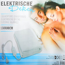 Elektrische Heizdecke Wärmedecke Wärmeunterbett Wärmezudecke Heizmatte 150x80 cm