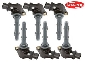 Delphi Set of 6 Ignition Coils for Dodge Sprinter 2500 Mercedes W203 W204 W212
