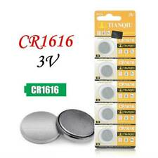 5x CR1616 3V Coin Button Batteries Cell Battery For Watch Toys Car Key Remote