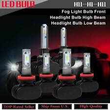 Set of 6 H11 H1 LED Fog Light+Headlight Hi/Lo Beam Bulb For 2012 Ford Focus KU27