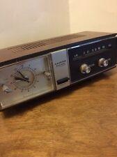 Vintage Lloyd's Solid State 2 Speaker Alarm Clock Telechron AM Radio 9J45G-37C