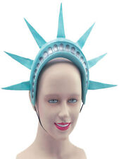 Estatua de Liberty Corona Casco Americano Usa New York Diadema Fancy Dress Nuevo