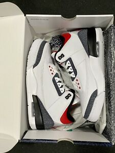 Brand New in Box DS Nike Air Jordan 3 III Fire Red Denim SZ 9 Men's 🔥🔥