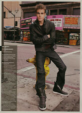 Paul Wesley 1pg MAXIM magazine feature, clippings