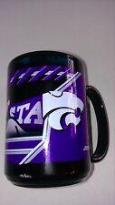 "Kansas State Wildcats Coffee Mug 4.5"" KSU Cup Black Purple Big 12 College Drink"