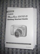 Canon Power Shot sx110 is instrucciones English + Photo Paper