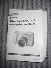 Canon Power Shot SX110 IS Gebrauchsanleitungen English+Photo Paper