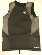 Men's Hurley Freedom 202 Wetsuit Vest-Size Small S Black & Gray VGUC