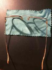 Montatura occhiali francese anno 1969 Metallo laminato oro 12ct.