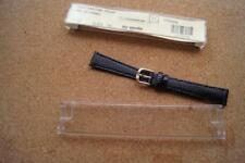 APOLLO  BLACK LEATHER LIZARD GRAIN WATCH STRAP 14MM WITH SPRING BARS