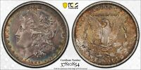 1889-O MORGAN SILVER DOLLAR PCGS GENUINE XF DETAIL CLEANED RAINBOW COLOR (DR)