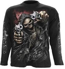 Spiral Direct ASSASSIN Long sleeve T-Shirt Biker/Grim Reaper/Skull/Goth/Skeleton