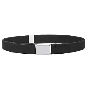 Buyless Fashion Kids Toddlers Baby Adjustable Elastic Stretch Belt Silver Buckle