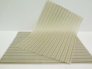 25 Sheets Vellum Translucent Pale Gold Stripe Print A4 110gsm Paper - JLH125