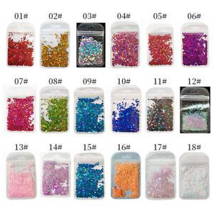 Bag Holo Super Laser Nail Sequins Love Design Glitter Flakes Decoration Manicure