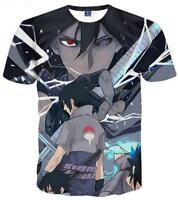 New Fashion Womens/Mens Naruto Funny 3D Print T-Shirt Summer Tops