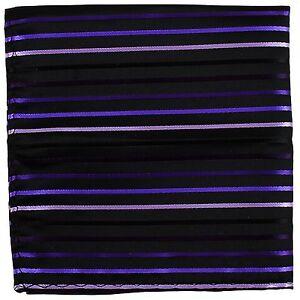 New Men's Polyester Pocket Square Hankie Only Stripes Striped Purple formal