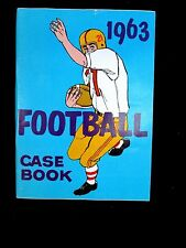 Vintage 1963 FOOTBALL RULES CASE BOOK BOOKLET BROCHURE GUIDE Complete Official