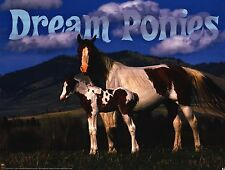 ANIMALIA POSTER~Dream Ponies Horse Pony and Baby Foal On Plains 2006 Farm Print