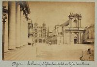 Dijon, Il Teatro E Chiesa St Michel E St Etienne, Vintage Albumina Ca 1890