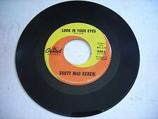 Scott Mac Kenzie Look in Your Eyes / All I Want is You 1965 45rpm VG+
