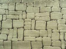 Harlequin Curtain Fabric ASCENT 0.4m Camel - Mosaic Cut Velvet Design 40cm