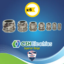 6 x M63 IP68 Metal Electrical Cable Gland Waterproof Brass Nickel Plated Glands