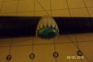 Handmade 925 Sterling Silver Malachite Stone Men's Ring Sz 11