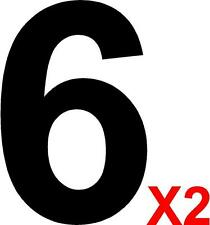 2 x MSA Specification Race Rally Car Number 6 - For Door Square Panels - 230mm