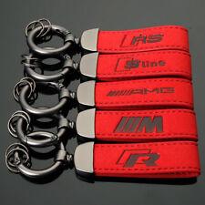 Très beau Porte-Clé rouge AUDI S LINE cuir ALCANTARA Serie Keychain Sport