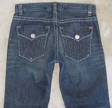 MEK Jeans Mens Harbin Straight Leg w Flap Pocs Dark Distressed 32 x 33
