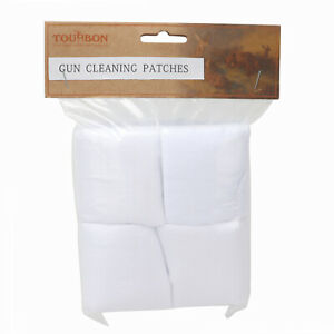 Tourbon Firearms Cleaning Cotton Flannel Patches .38-.45 Caliber - 300 Patches