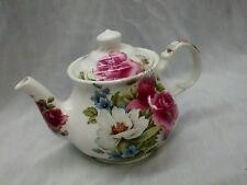 Stunning vintage Sadler England pink white flowers teapot