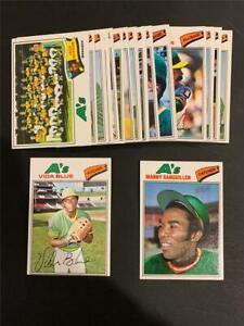 1977 Topps Oakland A's Athletics Team Set 22 Cards