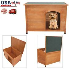 Waterproof Wood Dog House Pet Shelter L Pet Cozy Nest Shelter Crate Kennel New