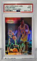 1999 Topps Gold Label Class 1 Black Kobe Bryant #22 PSA 9 MINT