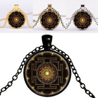 Fashion 2017 Buddhist Sri Yantra Pendant Necklace Sacred Geometry V5F7