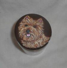 Wheaten Cairn Terrier Dog Hand Painted Cookie Treats Jar Container Kitchen decor
