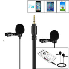 Lavalier Lapel Clip-on Microphone with Windshield for Canon Nikon DSLR Camera AU