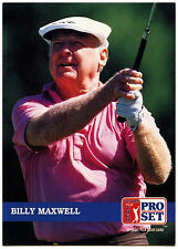 Billy Maxwell #240 PGA Tour Golf 1992 Pro Set Trade Card (C322)