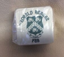 "25 Off White Paper Cardboard Sq Coasters~""THE RONALD REAGAN PUB""~4"" Coat of Arms"
