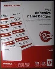 "Office Depot (108-549) Adhesive Name Badge Labels 2-1/3 x 3-3/8"" Laser Inkjet"