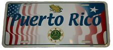 "USA American Puerto Rico Rican Frog Seal Shadow Flags 6""x12"" License Plate Sign"