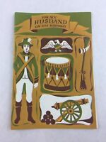 Vintage Husband Birthday Card Rust Craft Colonial Canon New Made in USA
